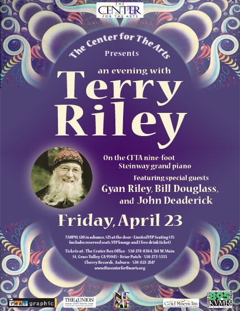 Terry riley Friday March 23 poster