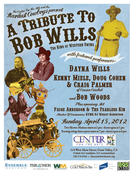 Bob Wills Tribute 4-13-12 poster