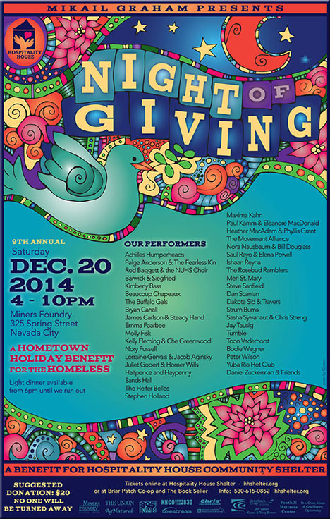 Night Of Giving 2014 poster